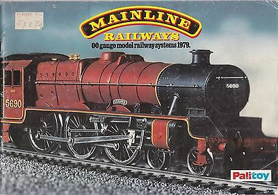 MAINLINE RAILWAYS OO; 1979 Catalogue. 42 Pages GOOD CONDITION