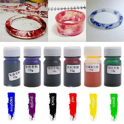 Silicone Liquid Pigment Resin Dye Making Crafts DIY Jewelry Accessories 10g/box