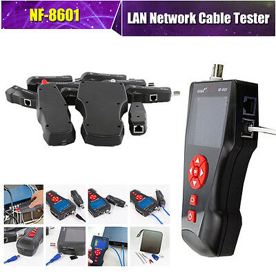 """Noyafa NF-8601 Network Cable Tester LCD Cable Length Tester 2.8"""" For RJ11 RJ45"""