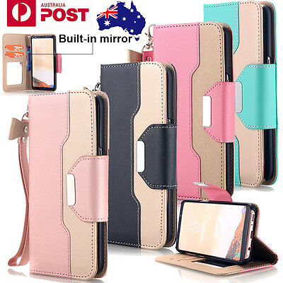 Luxury Leather Flip Wallet Stand Case Magnetic Cover For Samsung S10+/S9/S8 Plus