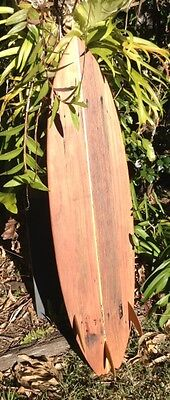 Thruster Wooden Surfboard 141cm  beach decor