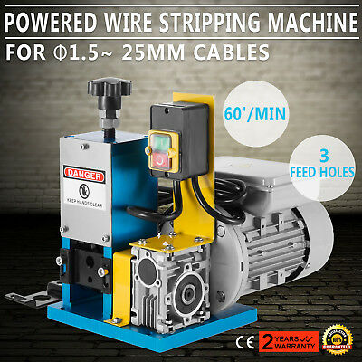 Portable Powered Electric Wire Stripping Machine Metal Recycle 1/4HP Heavy Duty