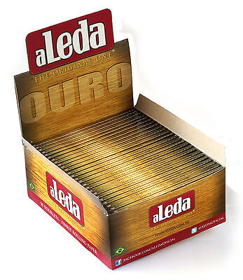 1 box - aLeda OURO King Size Slim - famous paper from Brazil - 1650 papers
