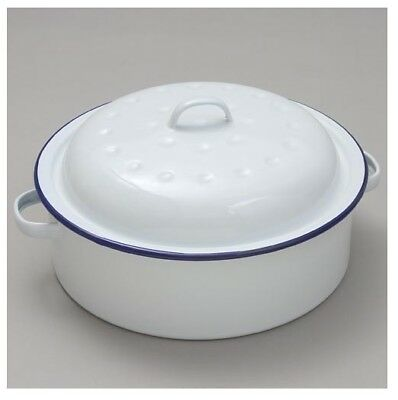 Falcon Round Roaster - Traditional White 20cm x 8.5D