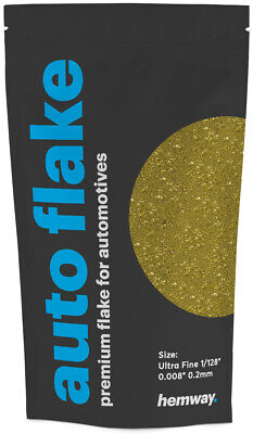 "Hemway Gold Metal Flake Auto Car Bike Glitter Paint 0.008"" 200 micron 100g Spray"