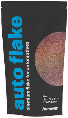 Hemway Rose Gold Holographic Auto Car Glitter Paint Spray Metal Flakes 100g