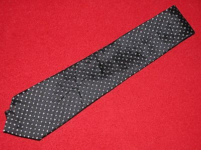 """DKNY *  100% Silk Men's Tie * NWOT * Black with Tiny Colored Squares * Thin @ 3"""""""