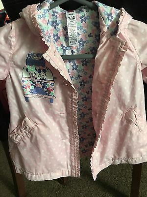 Lovely Minnie Mouse Pink Rain Coat - Size 9-12 Months