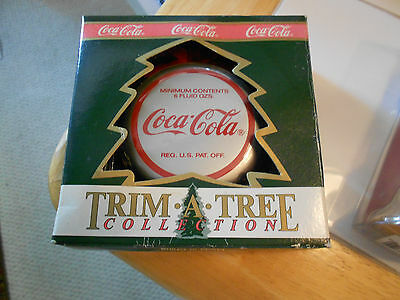 Coca Cola Trim A Tree Bottle  Top/polar Bear Ornament In Box