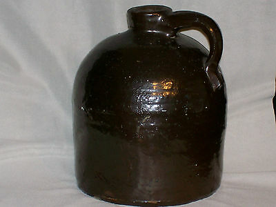 Antique Moonshine Jug,  Brown Salt Glazed Stoneware
