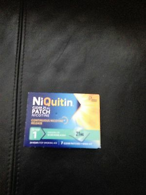 NiQuitin 24 Hour Clear Patches - Step 1 - BNIB 100% Auth -FREE POSTAGE