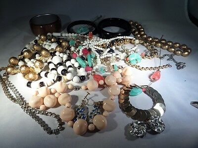 Vintage to Now Damaged Jewelry Lot For Parts Repairs or Crafting A5