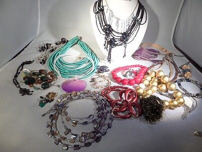 Vintage to Now Damaged Jewelry Lot for Parts Repairs or Crafting J5