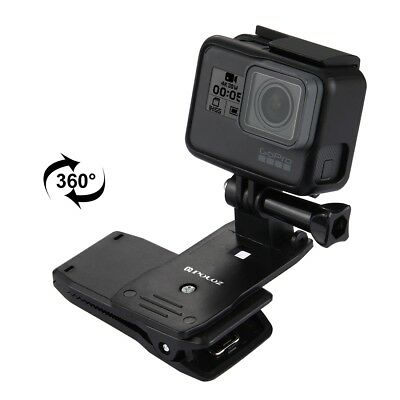 360 Rotating Backpack Hat Quick Release Clip Clamp Mount for GoPro HERO 6 5,4,3