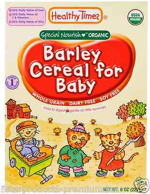 New Healthy Times Organic Barley Cereal For Baby Feeding Daily Meal Soy Free