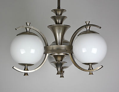 bauhaus art deco deckenlampe nickel eur 345 00 picclick de. Black Bedroom Furniture Sets. Home Design Ideas