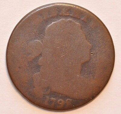 1798 1C  Draped Bust S-178  R5+ Late Die State, With Auction Flips