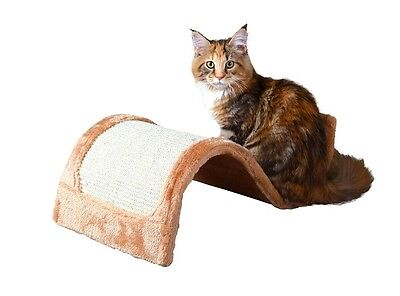 Trixie Cat / Kitten Wavy Scratching Wave Natural Sisal Post Brown / Bordeaux