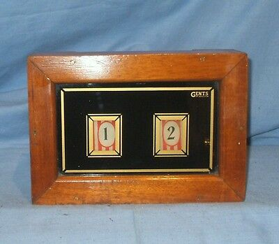 Antique Wooden Butlers / Servants Bell Box by 'Gents of Leicester'