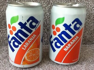 Soda cans both Fanta 33cl. (Laranja) from Lisboa, Portugal