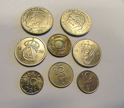 Coins Of Sweden - Selection Of 8  Different