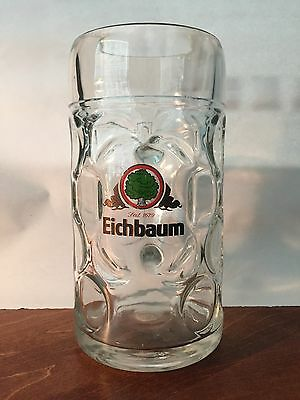 New Eichbaum 1L Glass German Beer Mug - FREE SHIPPING