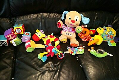 Lamaze/Fisher Price/ other brands Bundle Of 14 Soft / Pram Baby Toys