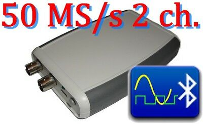 DSO 50 MS/s 2 ch  Android Bluetooth Digital Oscilloscope Portable Handheld usb