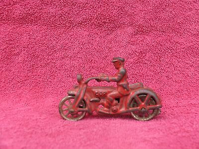 Antique Hubley/Arcade Cast Iron Cop Motorcycle w/ Sidecar