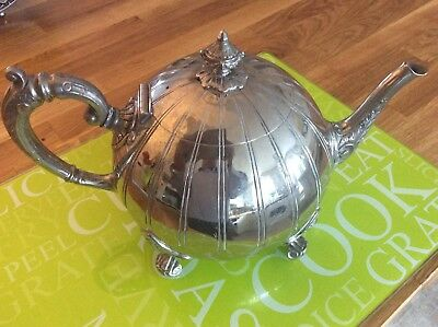 Victorian Silver Plated Tea Pot Philip Ashberry Sheffield
