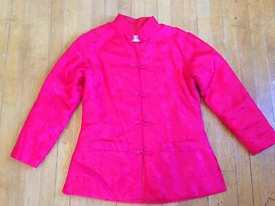 Women's Large VINTAGE Fortune Fabulous Fashion Co. Asian Jacket Coat Red Costume