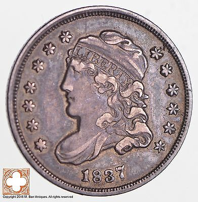 1837 Capped Bust Half Dime LG 5 *2672