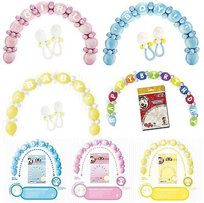 64pc New Baby Shower Party Arch Balloon Decoration Kit Boy Girl Pink Blue Yellow