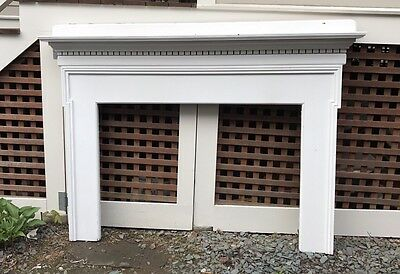 Antique Fireplace Mantle With Dental Molding
