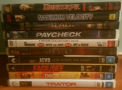 Bulk Lot of 12 DVD's, Drama/Action/Thriller Assorted Titles