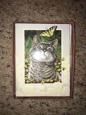 Cat / Buttercup Blank Notecards Set Of 9