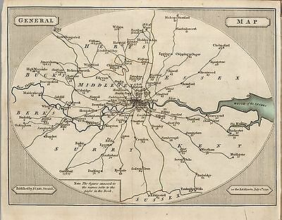 LONDON ROADS 1790 JOHN CARY old antique maps towns villages DVD B10