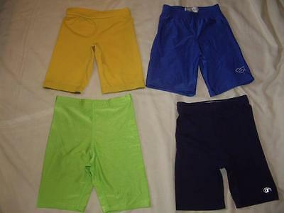 Lot of 4 Shiny Spandex Shorts Assorted Colors Size Small Gym Running