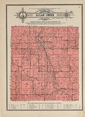 1914 POWESHIEK COUNTY plat maps IOWA GENEALOGY history Atlas Land P146