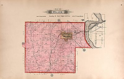 1908 WASHINGTON COUNTY NEBRASKA plat maps atlas GENEALOGY LAND OWNER DVD P128