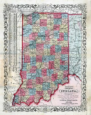 INDIANA 167 maps state PANORAMIC genealogy old HISTORY DVD