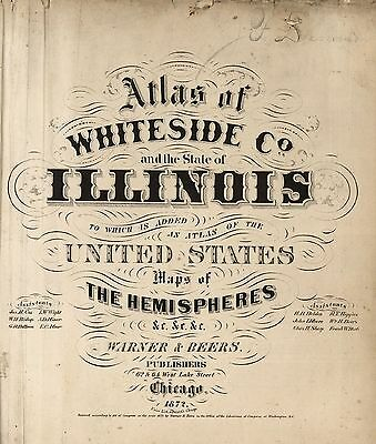 ILLINOIS STATE 1872 ATLAS maps old GENEALOGY DVD S18