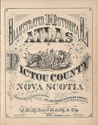 PICTOU COUNTY NOVA SCOTIA 1879 Atlas plat maps old GENEALOGY LAND OWNERS DVD