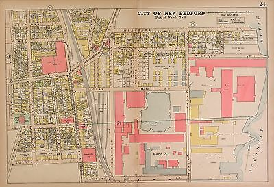 NEW BEDFORD COUNTY MASSACHUSETTS 1911 plat Atlas maps GENEALOGY Land P139