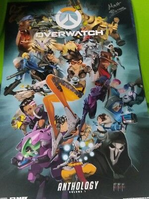 SDCC 2017 exclusive blizzard overwatch and wow warcraft le poster signed
