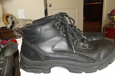 Bass Hiking Boots.  Black Leather Ankle High.  Men's size 10M