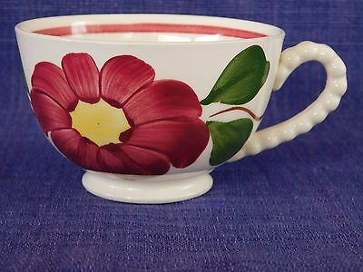 Blue Ridge Pom Pom CUP Red Line & Flower have 100s more Southern Pottery items