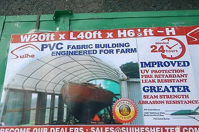 New 6m x 12m Container Shelter Workshop Igloo Dome