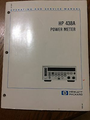 Hewlett Packard HP 438A Operating and Service Manual P/N 00438-90015