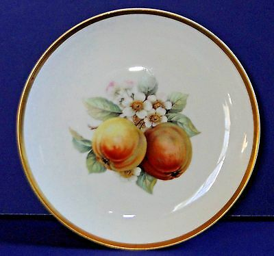 HUTSCHENREUTHER Selb Bavaria Germany U.S. Zone Plate with Fruit Flowers 8""